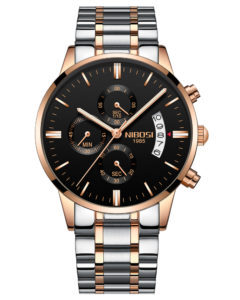44mm Big Watch Rose Gold Color Men's Chronograph Watch