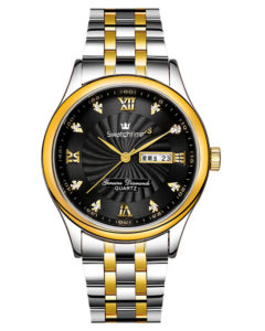 Solid Stainless Steel Band Classic Mens Dress Watch