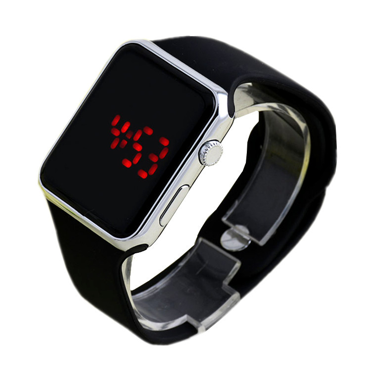 Hot Selling Apple Style Led Digital Silicon Watch Unisex