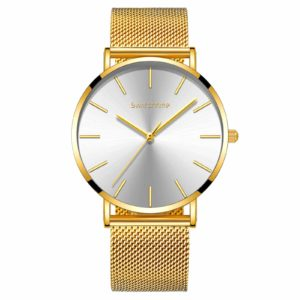 40mm Unisex Ultra Thin Minimalist Watch Gold