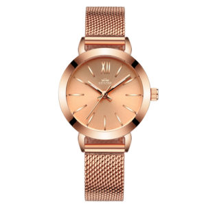 Customize Logo Elegant Lady Fashion Rose Gold Watch