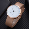 Customize Genuine Leather Strap Elegant Fashion Watch with Date (3)