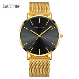 40mm Unisex Ultra Thin Minimalist Watch Multi Colors