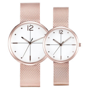 Customize Mesh Strap Couple Fashion Casual Watch