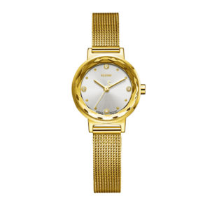 Small Fashion Lady Gold Watch With Japan Movement