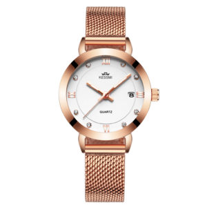 Customize Logo Elegant Lady Fashion Watch With with Mesh Band