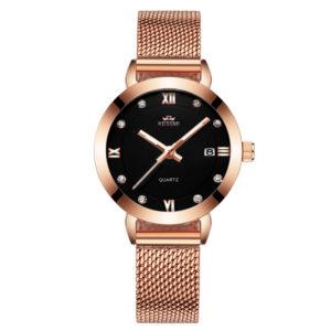 Customize Logo Elegant Fashion Lady Watch With Diamonds