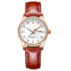 fashion lady watch with diamond bezel leather strap (3)