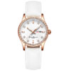 fashion lady watch with diamond bezel leather strap (4)