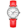 fashion lady watch with diamond bezel leather strap (5)