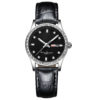fashion lady watch with diamond bezel leather strap (6)