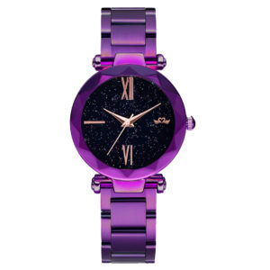 Same Dior Design Stainless Steel Band Fashion Lady Purple Watch With Japan Movement