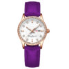 lady purple strap watch