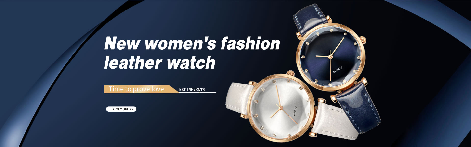 New Women's Fashion Leather Watch